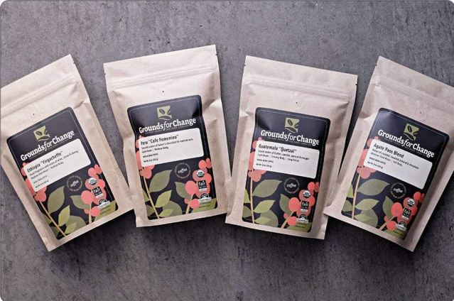Grounds for Change Four-Pack Coffee Sampler, an ideal gift for your coffee-loving friends!