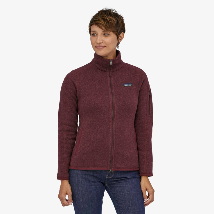 A woman wearing Patagonia's better sweater fleece jacket