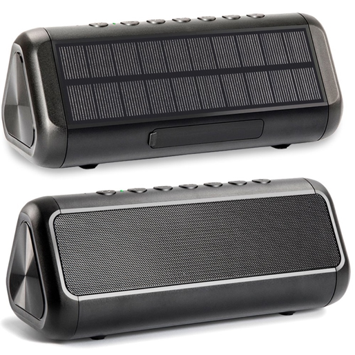 A solar-powered bluetooth speaker, an ideal holiday gift for your tech-savvy friends